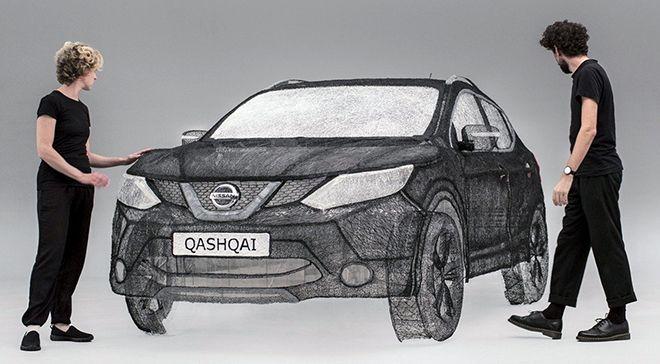 3D sculpture for Nissan